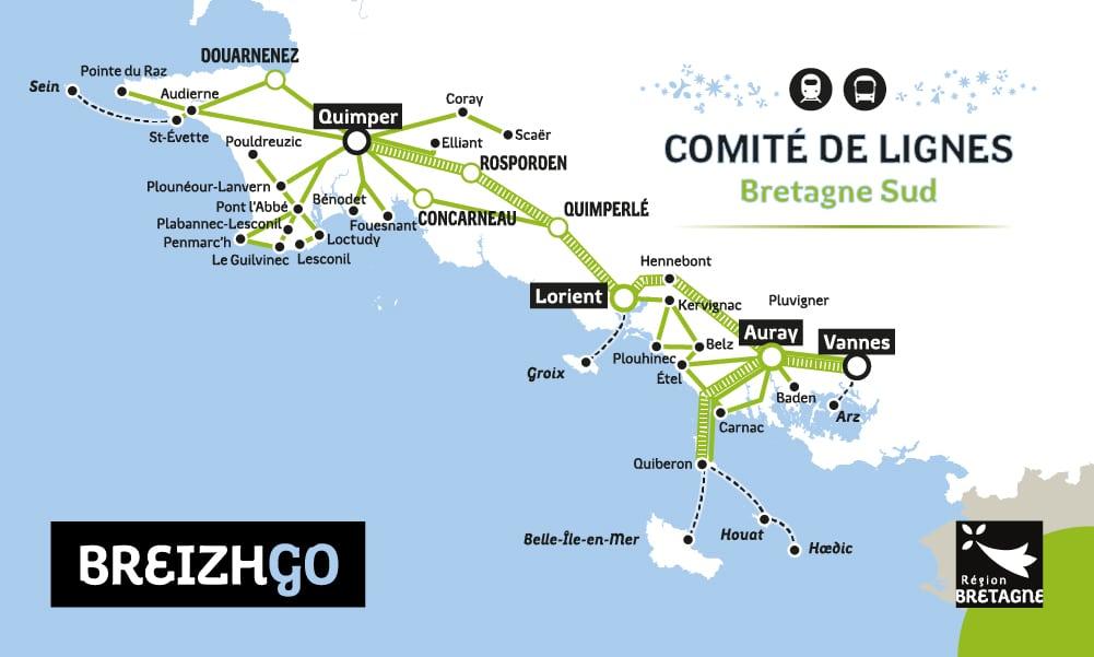 Comité de lignes donner votre avis sur les transport de car breizhgo en bretagne sud